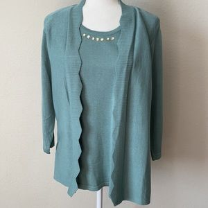 Napa Valley Sweater Shirt One Piece NWT
